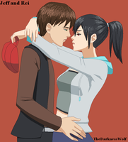 Jeff and Rei by TheDarknessWolf