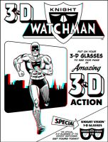 Knight Watchman retro 3-D cover by 3Dmented
