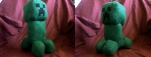 Plush Minecraft Creeper by millylilly14