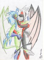 dragon kiss by Lorian-Dragon