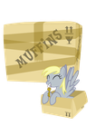 Derpy moving by RanmaSayo