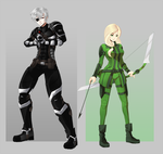 RWBY OC Commission: Sladen and Olivia by 21as