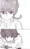 Ranma-chan and Ranma-kun by Leena-A