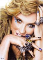 Ke$ha color pencil by LivieSukma