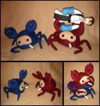The Endangered Spycrab plushie by Threnodi