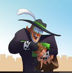 Music Meister And Scarecrow Noogie Time by pink-ninja