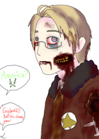 i drew america as a zombie from hetalia by deathnoteL2009