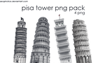 Pisa Tower PNG Pack by Axopholice