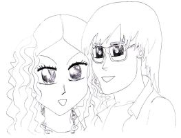 Me and my girl in manga style by MauricioKanno