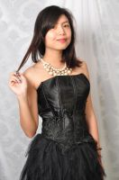 stock model black dress joya 2 by s05crew