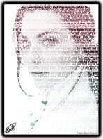 Amy Lee Text Portrait by godnessimaginary