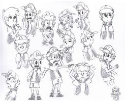 Dipper Pines Sketches by Suivre