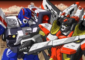Armada Starscream vs Red Alert by hansime