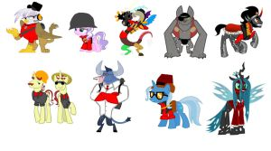 MLP Antagonists as TF2 classes by Smashfan666