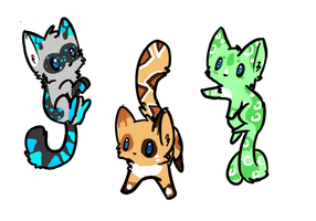 Adoptable kittens: CLOSED by FluffballAdopts