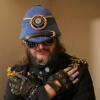 Steampunk Blue Lantern Pith Helmet 14 by Windthin