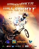 Promotional Poster BMX PRO RACER Will Grant front by Sidiuss