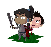 LoK: Makorra Week Day 1 - Fantasy by StarbuckViper