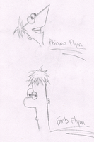 Phineas and Ferb by KyuubiEatsBabies