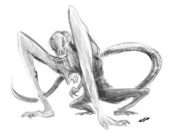 cloverfield monster sketch by dopepope