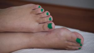 Smurfette's Toes in Green 7 by Feetatjoes