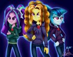The Dazzlings Rock In Rainbow Rocks! by KitsuneHino