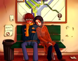 Waiting for the Train by Noctuart