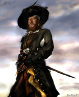 Captain Hector Barbossa by KomyFlyinc@ by KomyFly