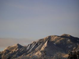 Flatirons with New Snow by j-dub