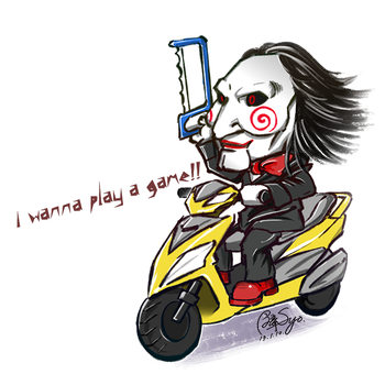 Saw-I wanna play a game!! by BunSyo