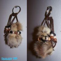 Coyote Paw Keychain by Draikairion