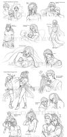 And another huge sketchdump... by Fiji-Fujii