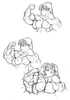 more traditional artwork ''bicep flex'' by ayanamifan