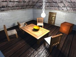 Abandoned House Interior by 3dmodeling