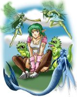 Wiga, fairies and dragons PS by anapeig