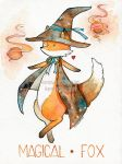 World's Watercolor Month - Day 1 : Fox by Hikasawr