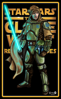 Clone Wars, Mandalorian Jedi. by JohnGWolf