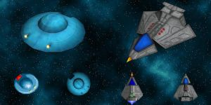 Arilou Skiff and Shofixti Scout for SE5 by Kwayne64