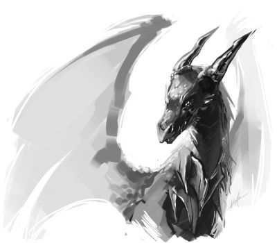 Dragon Sketch by KalaSketch