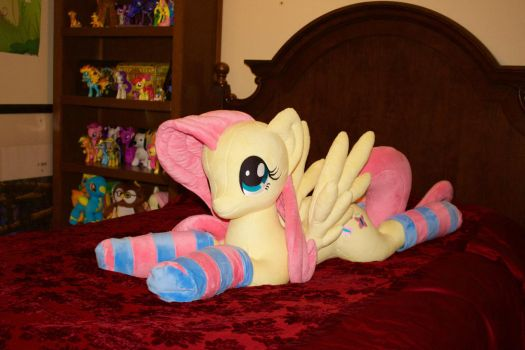 Life-size Fluttershy Plushie (by Agatrix) by FlutterbatIsMagic