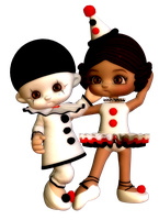 Pierrette and Pierrot by sweetpoison67