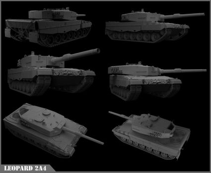 WIP - Leopard 2a4 by BrotherOfMySister