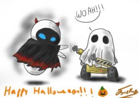 Happy Halloween from WALLE by Chibi-Joey