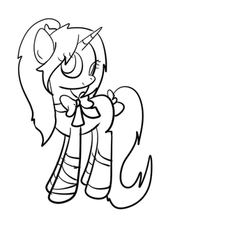 Outline of Barbiku's OC (Progress) by PrincessDonut