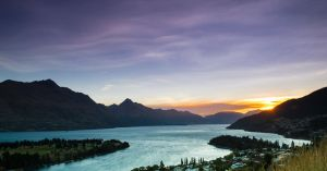 Dusk of Lake Wakatipu Nz by zzha158