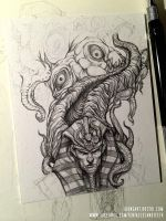 Nyarlathotep and Azazthoth WIP by TentaclesandTeeth