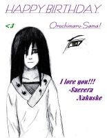 Happy Birthday Orochimaru Sama by Retartedfangirl22