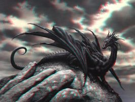 Black Dragon 3-D by MVRamsey
