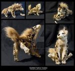 Poseable Spotted Hyena Voodoo by WormsandBones