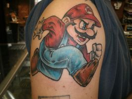 Super Mario Tattoo by ShannonRitchie